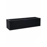 Кашпо fiberstone jort black low s l100 w30 h25 см