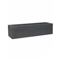 Кашпо fiberstone jort grey low s l100 w30 h25 см