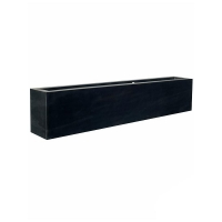 Кашпо fiberstone jort black middle high l200 w30 h40 см