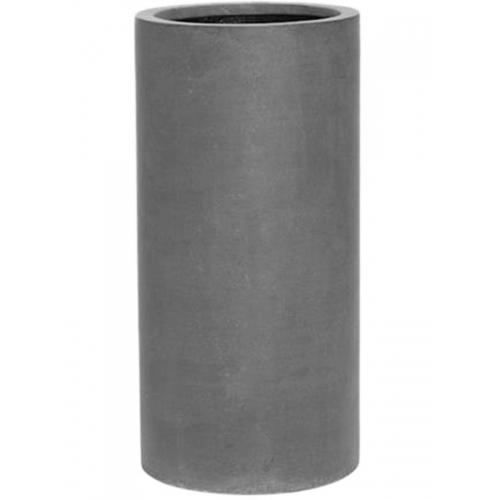 Кашпо fiberstone klax grey m d30 h60 см