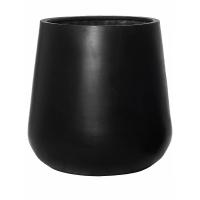 Кашпо fiberstone pax black xl d66 h67 см