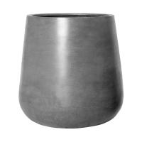 Кашпо fiberstone pax grey xl d66 h67 см