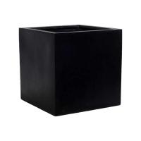 Кашпо fiberstone block black s l30 w30 h30 см