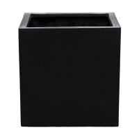 Кашпо fiberstone block black m l40 w40 h40 см