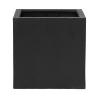 Кашпо fiberstone block black l l50 w50 h50 см
