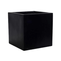 Кашпо fiberstone block black xl l60 w60 h60 см