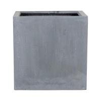 Кашпо fiberstone block grey m l40 w40 h40 см