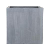 Кашпо fiberstone block grey xl l60 w60 h60 см