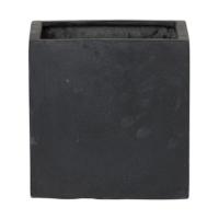 Кашпо fiberstone fleur black l l25 w25 h25 см