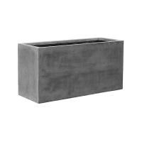 Кашпо fiberstone jort grey l l120 w45 h60 см