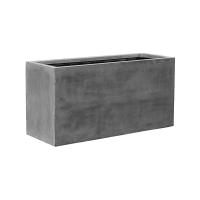 Кашпо fiberstone jort grey xl l150 w60 h75 см