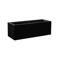 Кашпо fiberstone jort black s l120 w45 h40 см