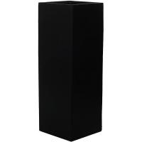 Кашпо fiberstone ying black l40 w40 h150 см