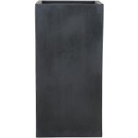 Кашпо fiberstone bouvy black l40 w40 h80 см