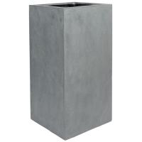 Кашпо fiberstone bouvy grey l40 w40 h80 см