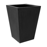 Кашпо fiberstone jumbo thom black l l88 w88 h120 см