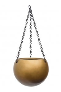 Кашпо подвесное gradient globe matt honey d24 h19 см