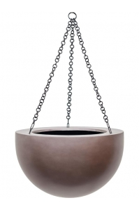 Кашпо подвесное gradient bowl matt coffee d33 h21 см