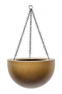 Кашпо подвесное gradient bowl matt honey d33 h21 см