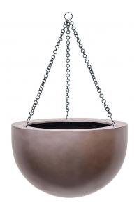 Кашпо подвесное gradient bowl matt coffee d38 h24 см