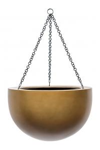 Кашпо подвесное gradient bowl matt honey d38 h24 см