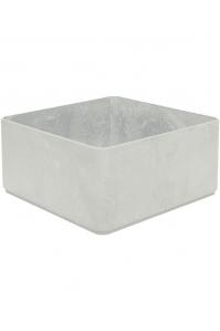 Кашпо sauerland / basic square high shine / mat ral: l50 w50 h25 см