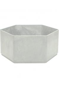 Кашпо sauerland / basic hexagoon high shine / mat ral: d55 h25 см