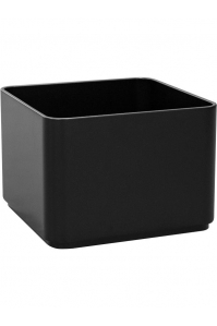 Кашпо multivorm / basic square mat ral9005 l35 w35 h24 см