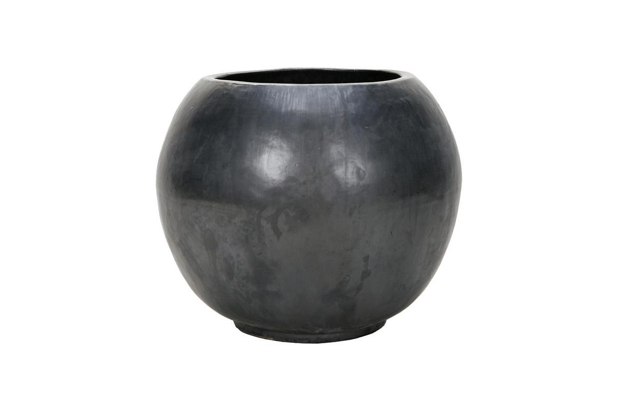 Кашпо de luxe globe anthracite d47 h38 см
