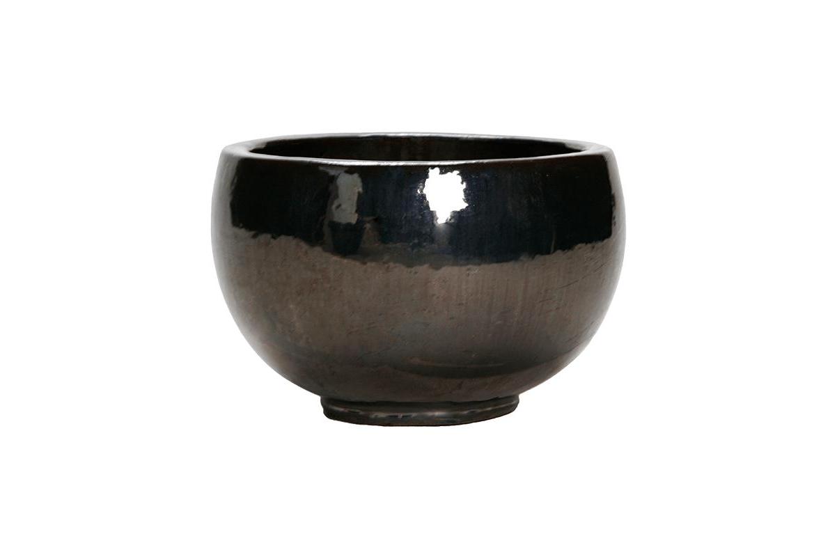 Кашпо metal glaze bowl d47 h29 см