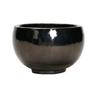 Кашпо metal glaze bowl d47 h29 см