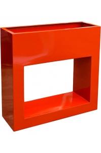 Кашпо livingreen barrier holey design polished flame red l90 w30 h90 см