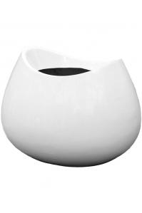 Кашпо livingreen blob 1 polished brilliant white l65 w56 h50 см