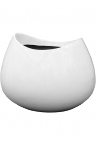 Кашпо livingreen blob 2 polished brilliant white l98 w84 h75 см