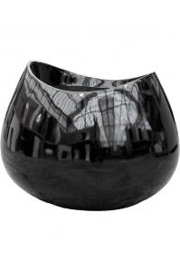Кашпо livingreen lob 2 polished black l98 w84 h75 см