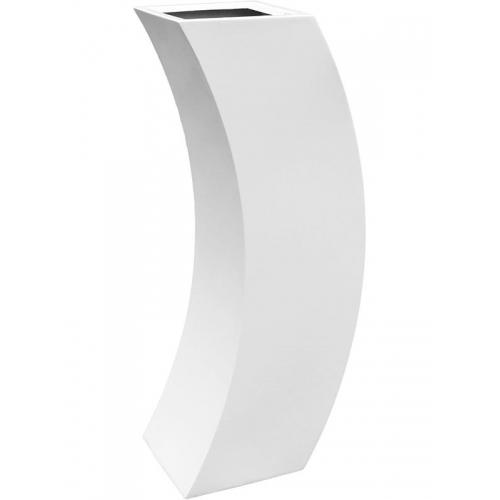 Кашпо livingreen curvy marilyn 3 polished brilliant white l35 w35 h120 см