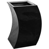 Кашпо livingreen curvy marilyn 1 polished jet black l35 w35 h60 см
