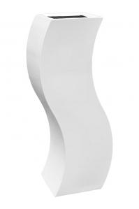 Кашпо livingreen curvy s1 polished brilliant white l35 w35 h120 см