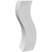 Кашпо livingreen curvy s2 polished brilliant white l35 w35 h150 см