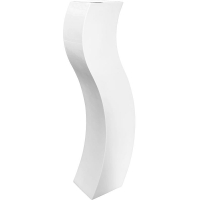 Кашпо livingreen curvy s3 polished brilliant white l35 w35 h180 см