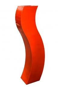 Кашпо livingreen curvy s3 polished flame red l35 w35 h180 см