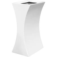 Кашпо livingreen curvy sophia 1 polished brilliant white l26 w35 h60 см
