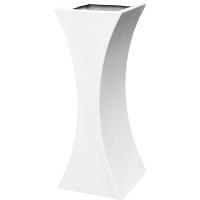 Кашпо livingreen curvy sophia 2 polished brilliant white l35 w35 h90 см