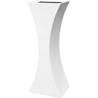 Кашпо livingreen curvy sophia 3 polished brilliant white l46 w35 h120 см