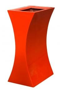 Кашпо livingreen curvy sophia 1 polished flame red l26 w35 h60 см