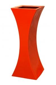 Кашпо livingreen curvy sophia 2 polished flame red l35 w35 h90 см