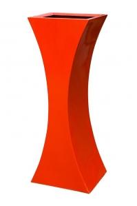 Кашпо livingreen curvy sophia 3 polished flame red l46 w35 h120 см