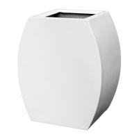 Кашпо livingreen curvy ursula 1 polished brilliant white l51 w35 h60 см