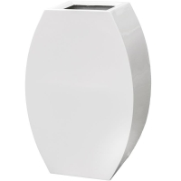 Кашпо livingreen curvy ursula 2 polished brilliant white l59 w35 h90 см