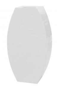 Кашпо livingreen curvy ursula 3 polished brilliant white l67 w35 h120 см